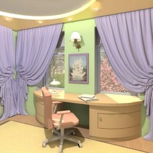 дизайн интерьера детской комнаты проектирование 3Д визуализация