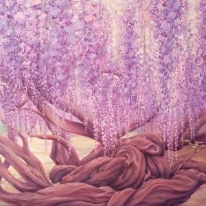 Картина холст масло ЭЙВА 60х80 летний пейзаж живопись