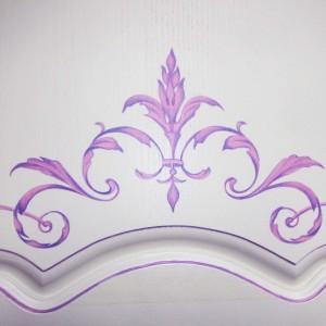 Роспись мебели декорирование и золочение винтажный стиль прованс и модерн