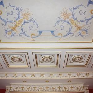 Роспись стен и потолков в интерьере пейзажи орнаменты флора и фауна альфрейная роспись гризайль