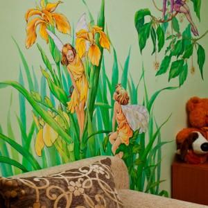 Роспись стен и потолков в интерьере пейзажи орнаменты флора и фауна сказочные и мифические сюжеты для детских комнат